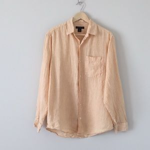 Men's banana republic 100% linen top